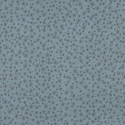 Tissus Patchwork Pins and Needles Tissu Paquerettes fond bleu