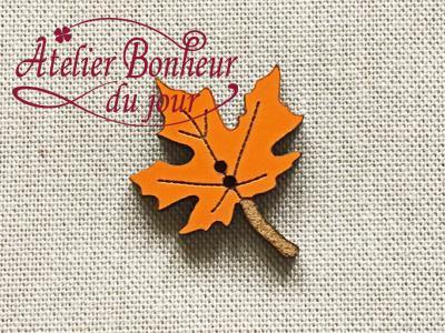Feuille d'Erable Orange AU-08-O - Atelier Bonheur du jour