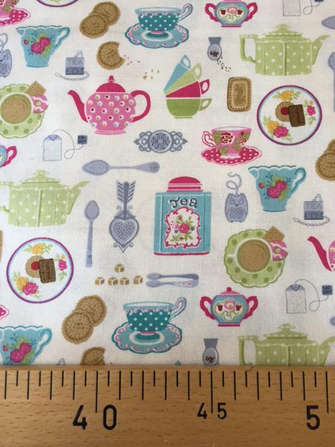 Tissus Patchwork Makower Tea Set 1644