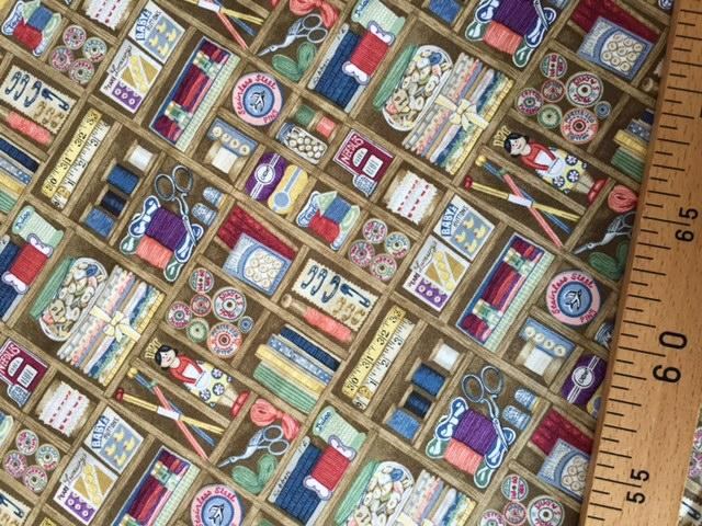 Tissus Patchwork Makower Boxes 1699
