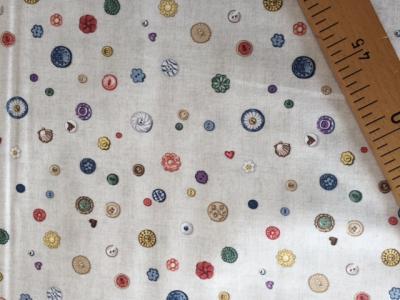 Tissus Patchwork Makower Buttons Cream 1703
