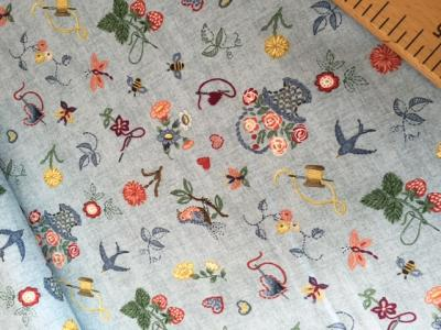 Tissus Patchwork Makower Embroidery 1704