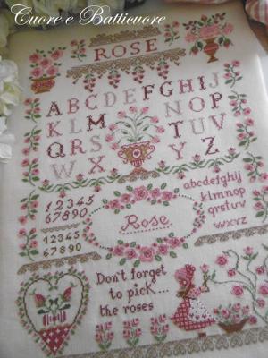Rose  Sampler Cuore e Batticuore