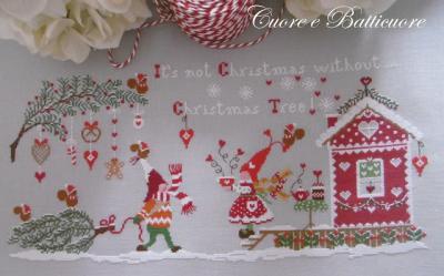 Il n'y a pas de Noël sans arbre de Noël 'Non è Natale senza Albero di Natale' Cuore e Batticuore