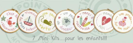 7 mini kits pour les enfants