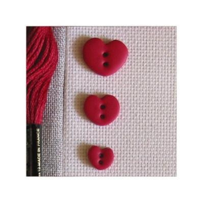 Lot 3 coeurs rouges