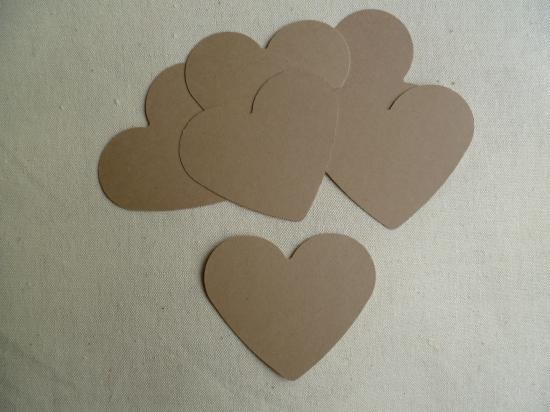 Lot de 6 Etiquettes Messages Coeur