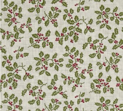 Tissus Patchwork Makower Balmoral Holly Cream 1602