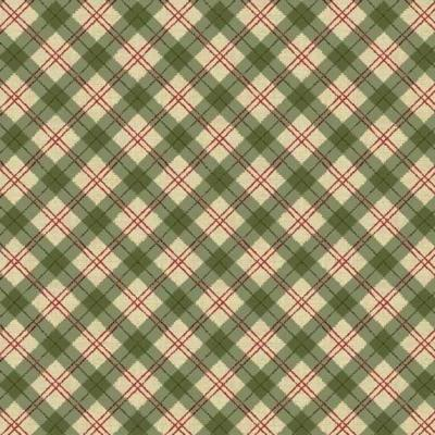 Tissus Patchwork Makower Balmoral Plaid Green 1603