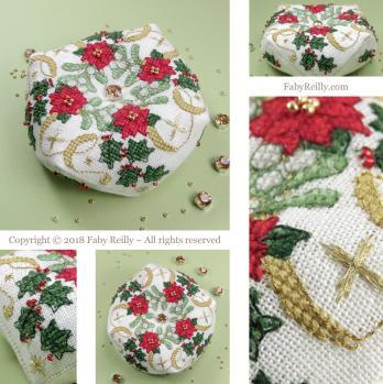 Biscornu noel etoile faby reilly designs