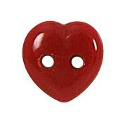 Bouton coeur rouge 10mm