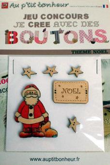 Lot N°2 de Boutons Noël
