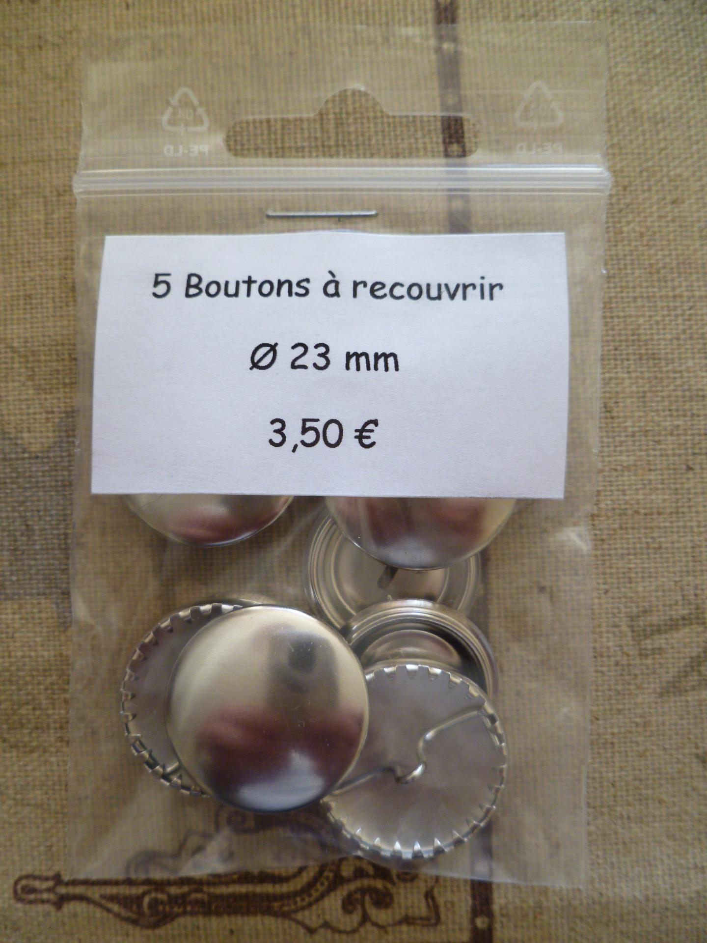 Boutons a recouvrir o23 mm