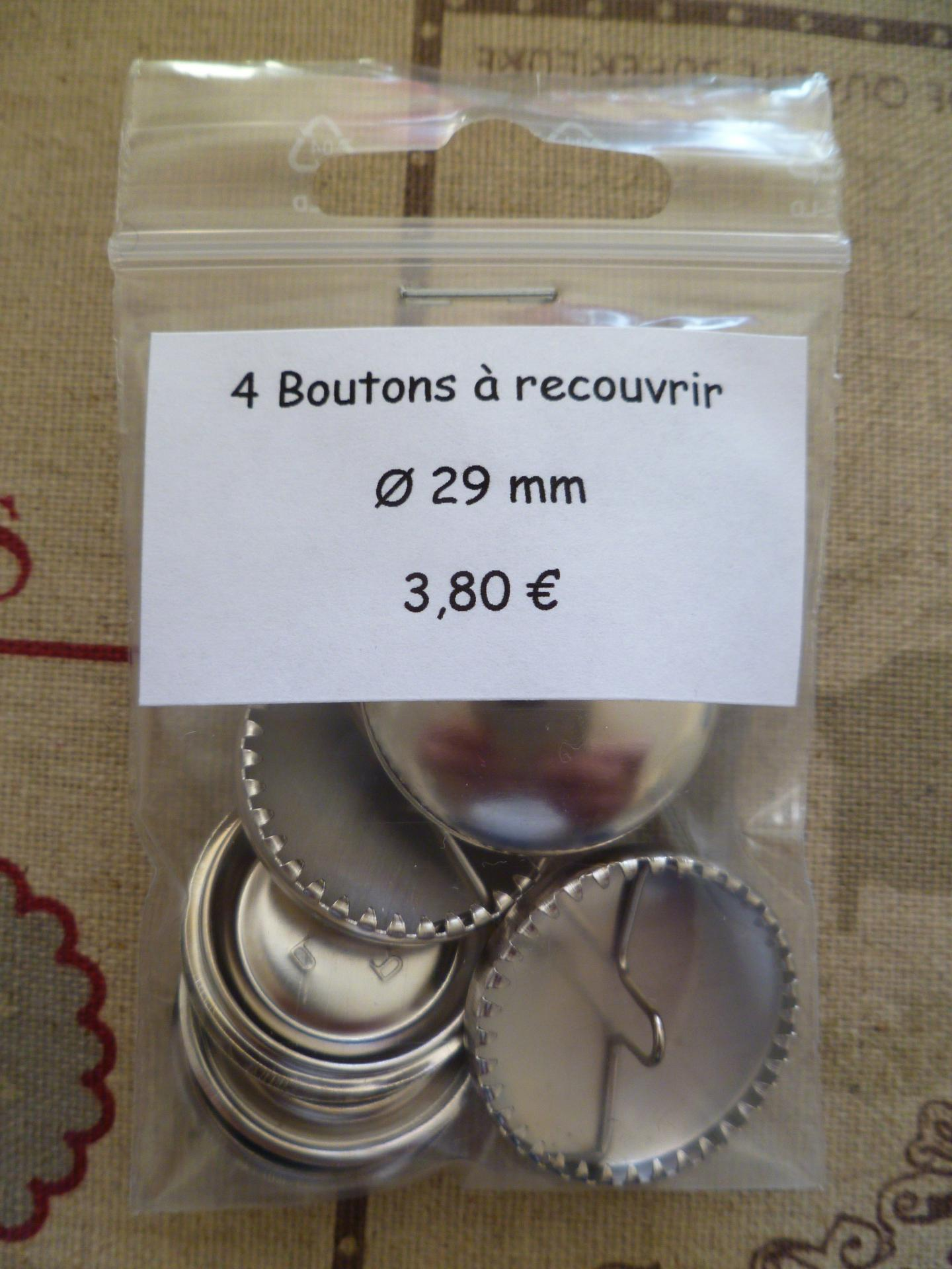 Boutons a recouvrir o29 mm