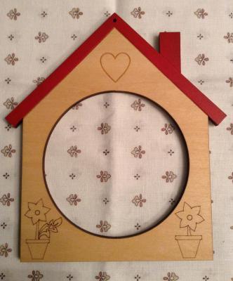 Cadre Maisonnette avec toit rouge