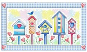 Birdhouse Paradise Blue