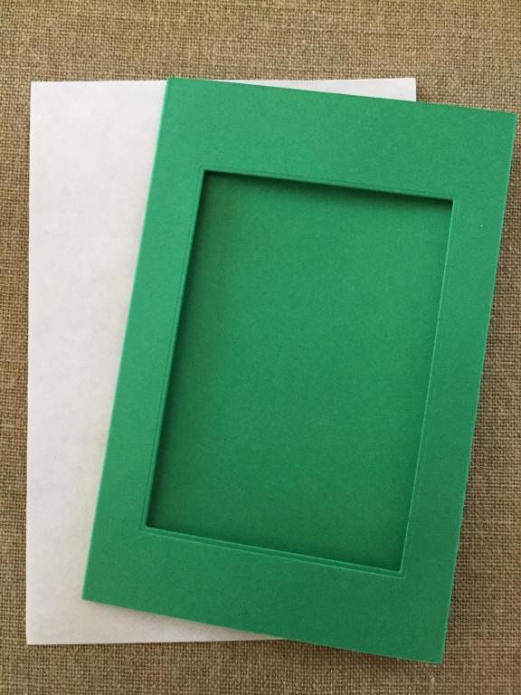 Carte Verte Fenêtre Rectangulaire