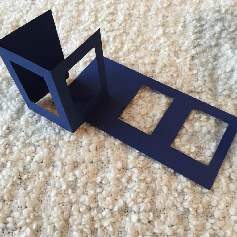 Carte Bleue Double Fenêtre Rectangulaire