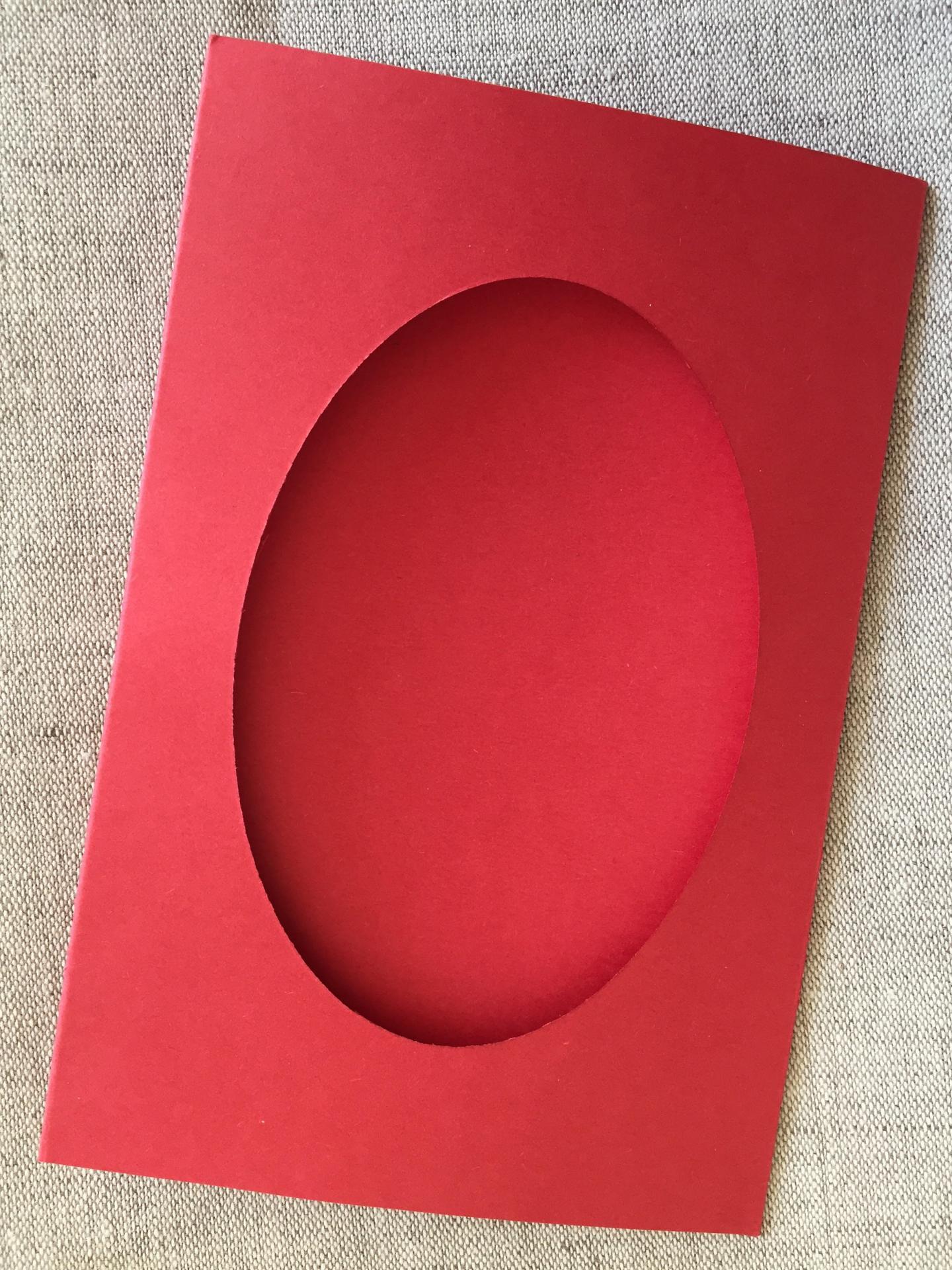 Carte ovale rouge