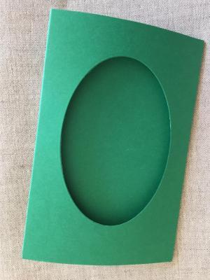 Carte Vert Foncé Fenêtre Ovale