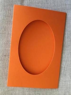 Carte Orange Fenêtre Ovale