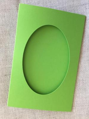 Carte Vert Prairie Fenêtre Ovale