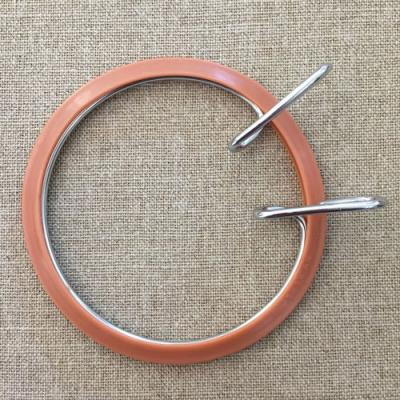 Tambour métal à Broder marron  9,5cm