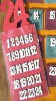 Boutons Chiffres Calendrier de l'Avent B451