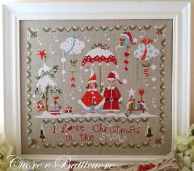 """Christmas in the snow """"J'adore Noël sous la neige"""" Cuore e Batticuore"""
