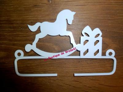 Cintre en métal blanc Cheval à Bascule 11cm Rico Design