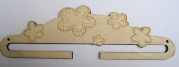 Cintre Bois Gravé Fleurs Quilt 20 cm CL00920