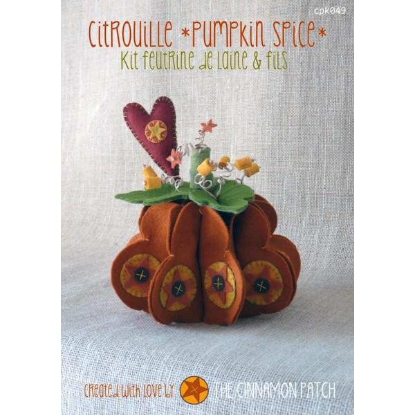 Citrouille pumpkin spice kit feutrine 4