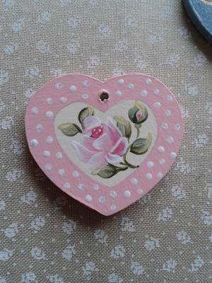 Coeur Aglaé Roses roses