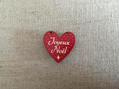 Coeur joyeux noel rouge 627