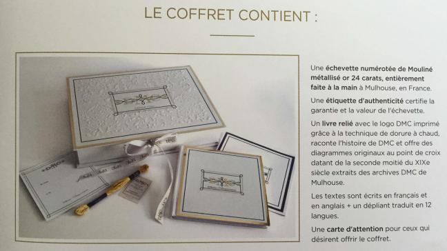 Coffret fil mouline metallise or 24 carats 3