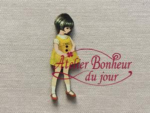 Cv 15 fillette robe jaune z