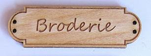 Bouton Bois Broderie BLD007  Au P'tit Bonheur