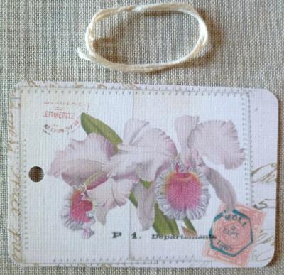 Etiquette Message Fleurs de Lys