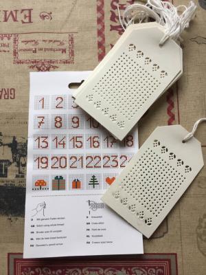 Etiquettes a broder carton blanc 1