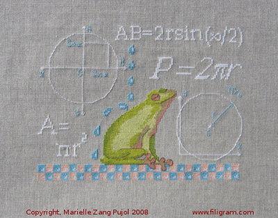 Etude de la petite grenouille cercle a13