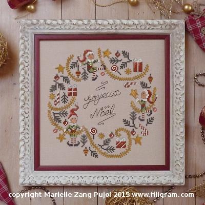 Couronne de Noël aux lutins F106 Filigram
