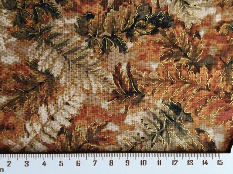 Tissus Patchwork Falls Canvas  avec Dorure Réf : 112 29181