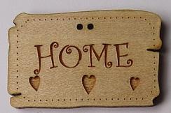 Panneau Country Home avec Coeurs BLD017  Au P'tit Bonheur