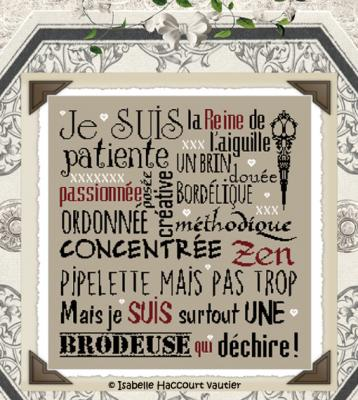 Je suis brodeuse BDN32 Isabelle Haccourt Vautier