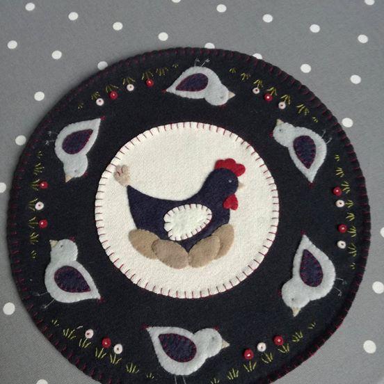 Kit candle mat poulette carrement piquee