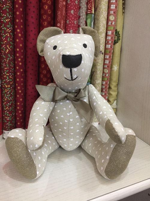 Kit L'Ours de mon enfance avec les tissus de la boutique
