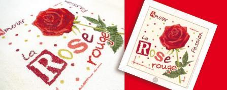 La rose rouge j015