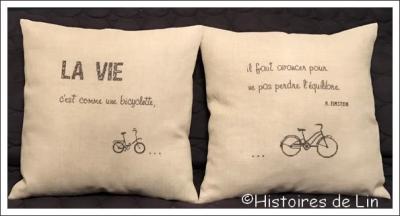 La vie c'est comme un bicyclette Réf. : 4011 Histoires de Lin
