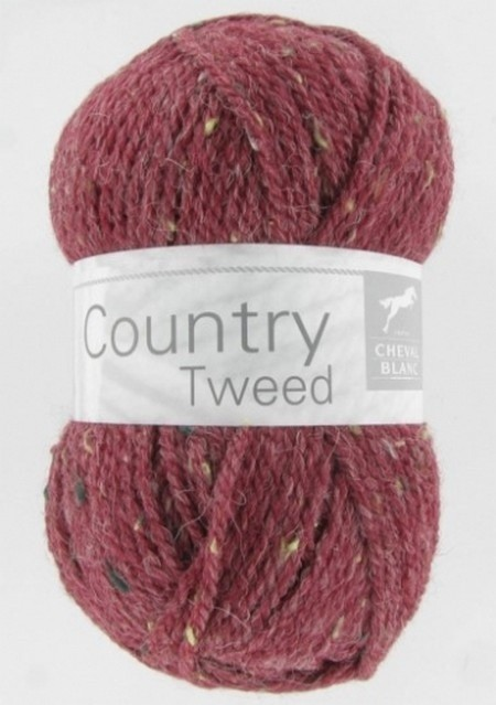 Laine cheval blanc country tweed prune 252