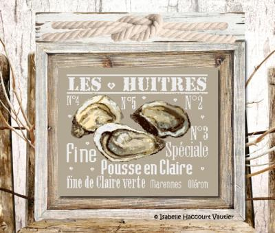 """""""Les Huitres"""" ISA25 Isabelle Haccourt Vautier"""